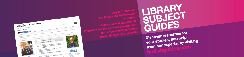 Discover resources for your studies by visiting hud.libguides.com