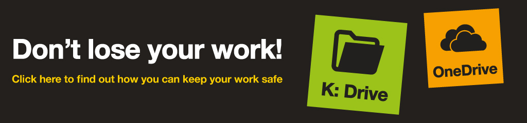 Don't lose your work! Click here to find out how you can keep your work safe