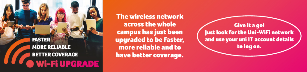 the wireless network across the whole campus has been upgraded