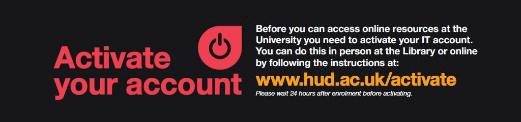New student? Don't forget to activate your account...
