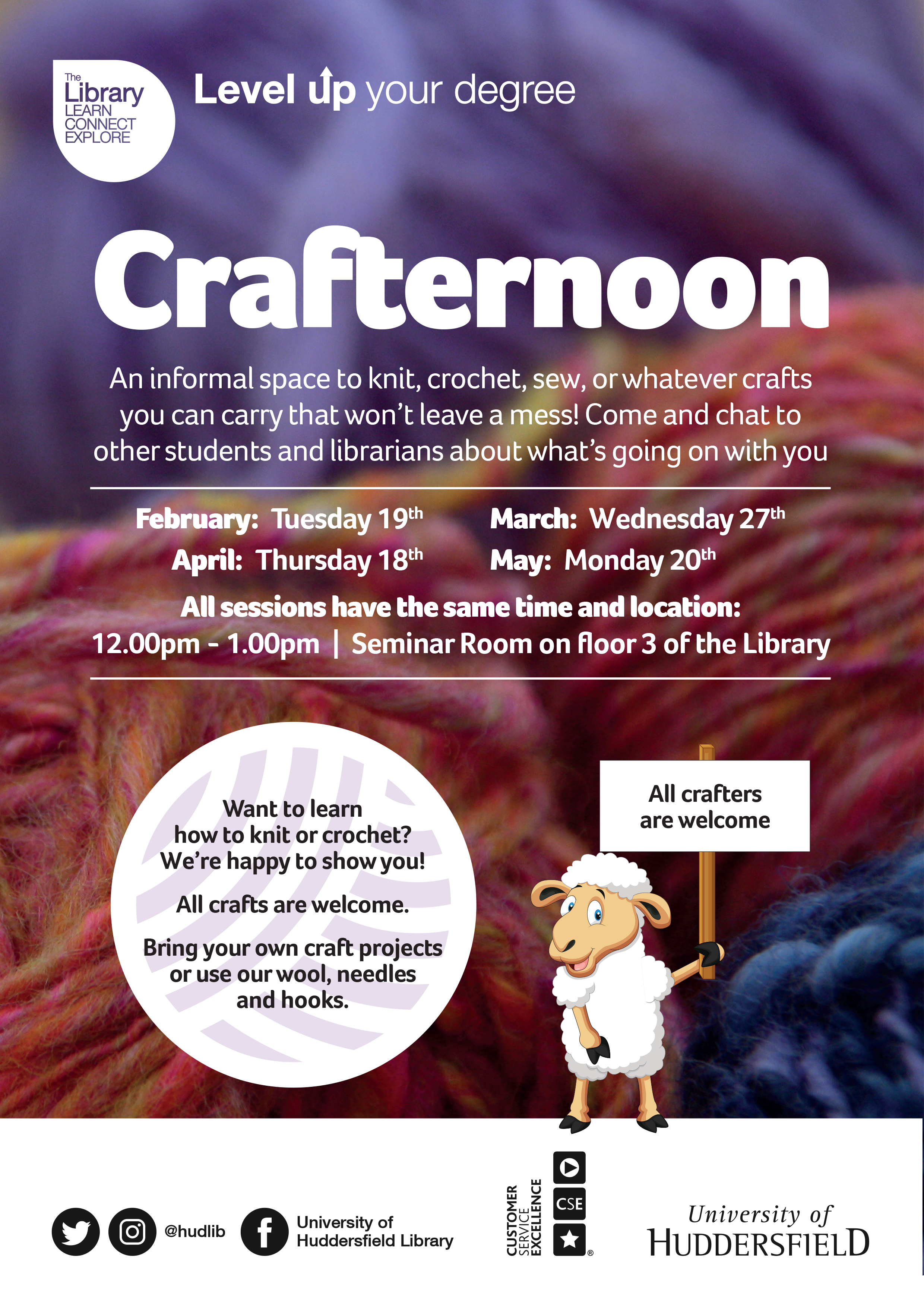 Crafternoon sessions spring 2019